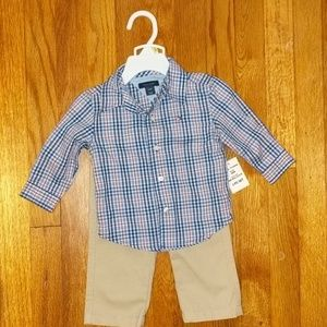 Tommy Hilfiger button down and khakis, NWT.